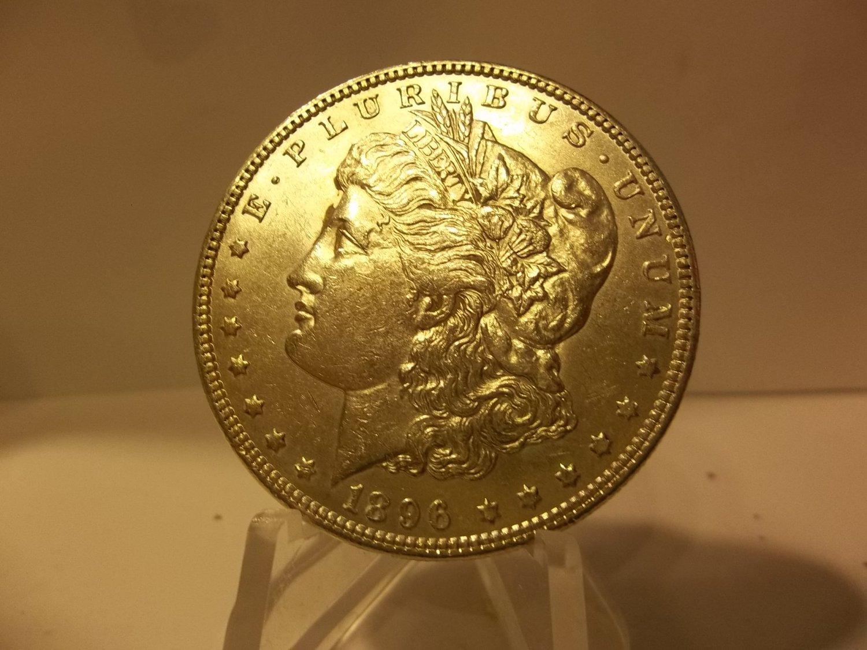 1896 #5 90% Silver Morgan Dollar.
