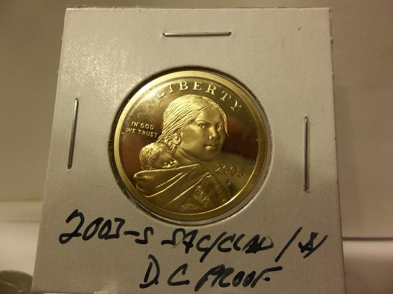 2003-S Deep Cameo Proof Sacagawea Dollar.