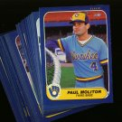 1986 FLEER BREWERS TEAM SET MOLITOR YOUNT NMMT-MT