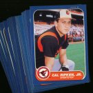 1986 FLEER ORIOLES TEAM SET RIPKEN MURRAY NMMT-MT