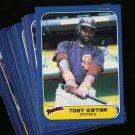 1986 FLEER PADRES TEAM SET GWYNN GARVEY NMMT-MT