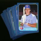 1986 FLEER RANGERS TEAM SET NMMT-MT
