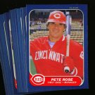 1986 FLEER REDS TEAM SET PETE ROSE NMMT-MT