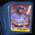 1986 FLEER ROYALS TEAM SET GEORGE BRETT NMMT-MT