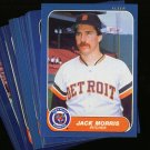 1986 FLEER TIGERS TEAM SET TRAMMELL NMMT-MT