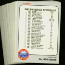 1983 FLEER ASTROS TEAM SET NOLAN RYAN NMMT-MT