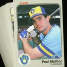 1983 FLEER BREWERS TEAM SET MOLITOR YOUNT NMMT-MT
