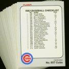 1983 FLEER CUBS TEAM SET NMMT-MT