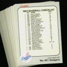 1983 FLEER DODGERS TEAM SET NMMT-MT