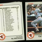1983 FLEER ORIOLES TEAM SET RIPKEN  NMMT-MT