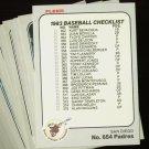 1983 FLEER PADRES TEAM SET  NMMT-MT
