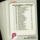 1983 FLEER PHILLIES TEAM SET SCHMIDT CARLTON  NMMT-MT