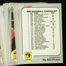 1983 FLEER PIRATES TEAM SET STARGELL  NMMT-MT