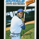 1977 O PEE CHEE #16 JOHN MAYBERRY ROYALS NM-MT OPC