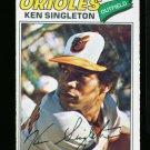 1977 O PEE CHEE #19 KEN SINGLETON ORIOLES NM OPC