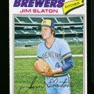 1977 O PEE CHEE #29 JIM SLATON BREWERS NM-MT OPC