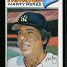 1977 O PEE CHEE #183 MARTY PEREZ YANKEES EX-MT OPC