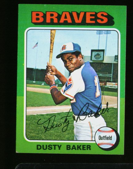 1975 TOPPS MINI #33 DUSTY BAKER BRAVES  NM