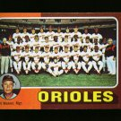 1975 TOPPS MINI #117 ORIOLES TEAM CARD WEAVER NM