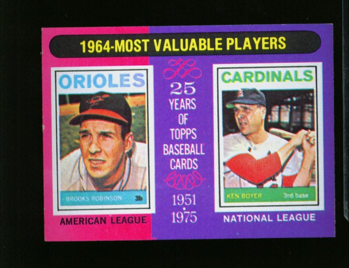 1975 TOPPS MINI #202 MVP ROBINSON AND HOWARD YANKEES NM