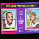 1975 TOPPS MINI #204 MVP ROBINSON AND CLEMENTE PIRATES NM-MT