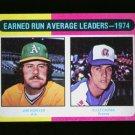 1975 TOPPS MINI #311 LDRS CAPRA AND HUNTER A'S NM