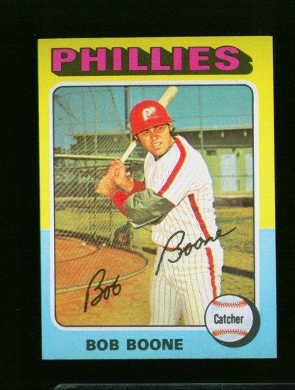 1975 TOPPS MINI #351 BOB BOONE PHILLIES NM-MT