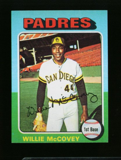 1975 TOPPS MINI #450 WILLIE MCCOVEY PADRES NM