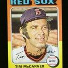1975 TOPPS MINI #586 TIM MCCARVER RED SOX NM