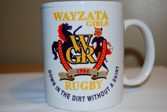 Wayzata Down in the dirt without a skirt 11 oz Ceramic Mug