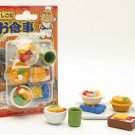 NEW Japanese Food Tray Stove Cup Eraser Carded Set IWAKO FREE Shipping