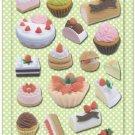 New IWAKO Japanese Eraser Puffy Raised Stickers - Cakes Desserts