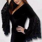 Goth dress w/ full circle sleeves!
