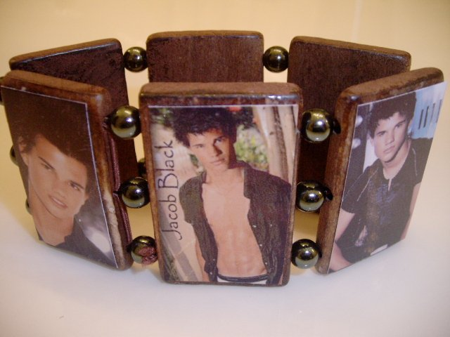 Twilight stretch wood Bracelet JACOB BLACK
