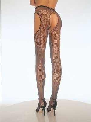 Fishnet Garterbelt Pantyhose (Leg Avenue) Color Black, Size: OS