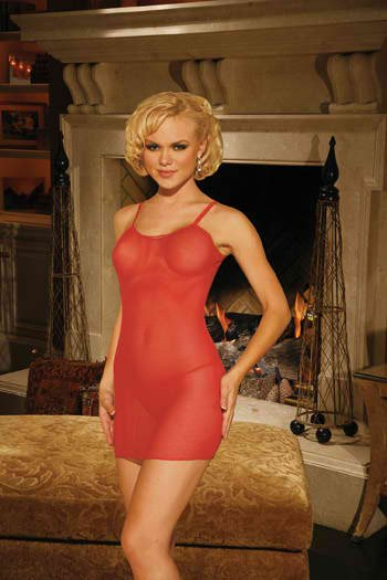 FISHNET MINI DRESS WITH G-STRING, SIZE: OS