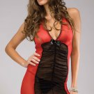 Mesh Halter Chemise With Matching Panty Size O/S