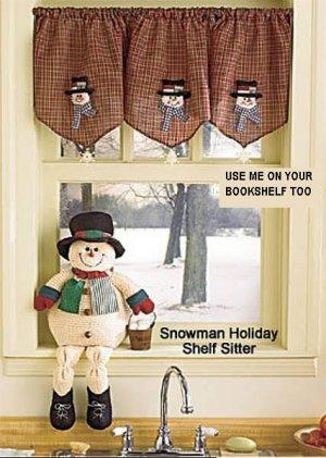 SNOWMAN MANTEL PIECE OR SHELF SITTER