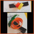 Halloween Hair Clippies - U Choose - Pumpkin or Candycorn