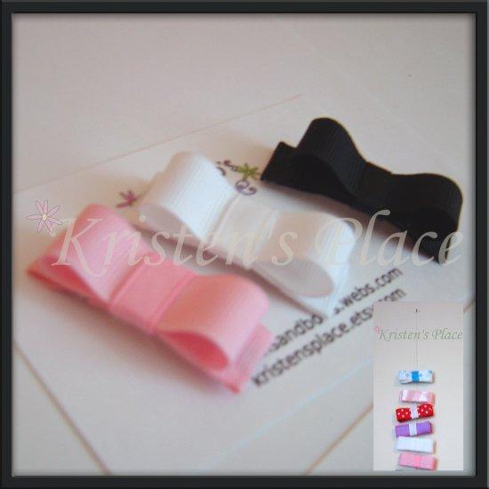 Super Non Slip Clippies - Pink, White, and Black