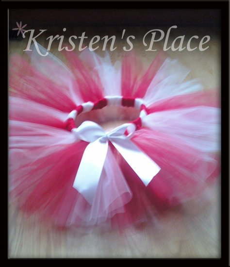 Christmas Tutu - Candy Cane Tutu - Ballerina / Princess - plus FREE Boutique Christmas bow