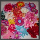10 Flower Hair Clips - Wholesale priced - Large and Extra Large Flowers