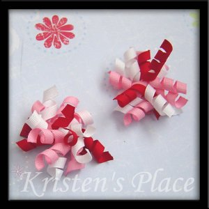 Valentines Day Small Korker Bow Set - 2 Bow Set