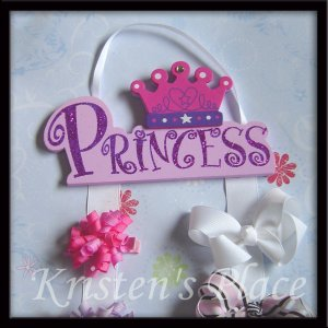 Princess Hair Bow Holder