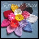 9 Crochet Hats & 9 Daisy Flower Clips - Wholesale Price
