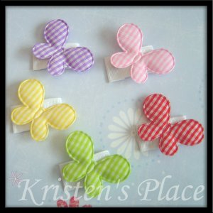 Butterfly Hair Clips - Baby Snap Clips - Set of 5