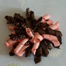 Korker Bow - Pink and Brown