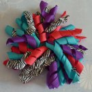 Boutique Hair Bow - Korker Bow - Bright Zebra Print