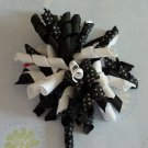 Boutique Hair Bow - Korker - Black and White