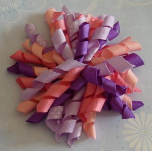 Korker Bow - Pink and Purple